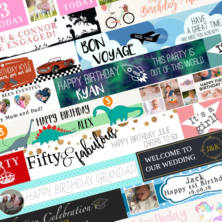 Celebration banners - Pick one of our templates