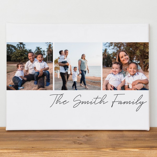 Photo and Text Collage Canvas