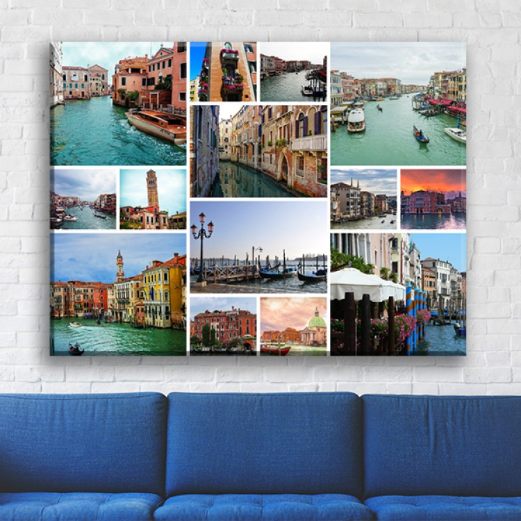 Landscape Photo Collage Canvas Add Your Photos For Eye Catching Wall Art
