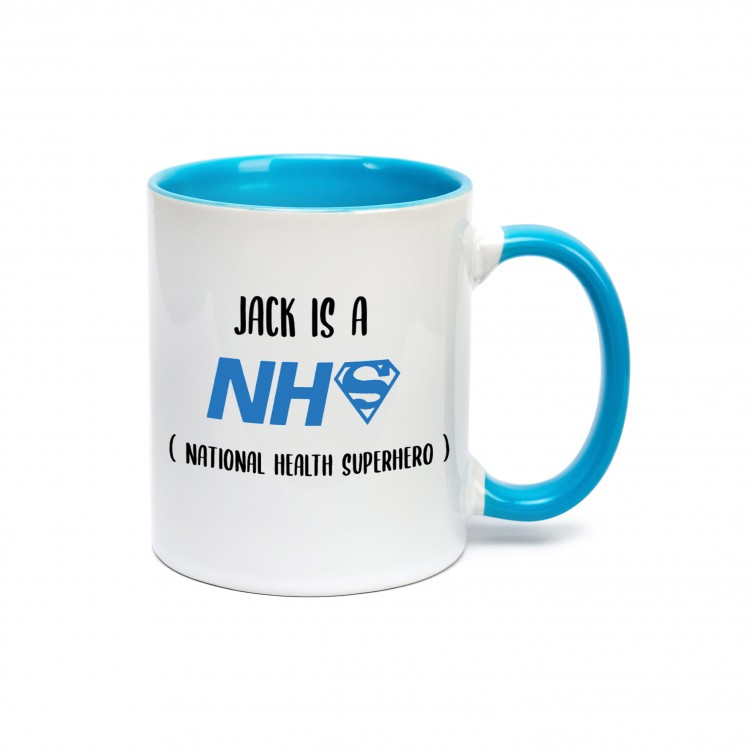Personalised Mug - Blue NHS Hero