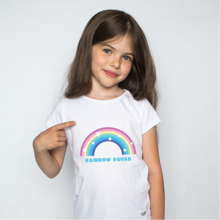 Kids - Personalised Rainbow T-shirt