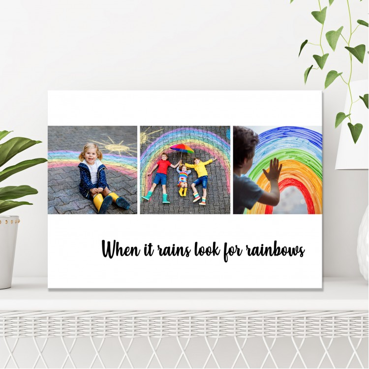 Collage Canvas  - Look For Rainbows