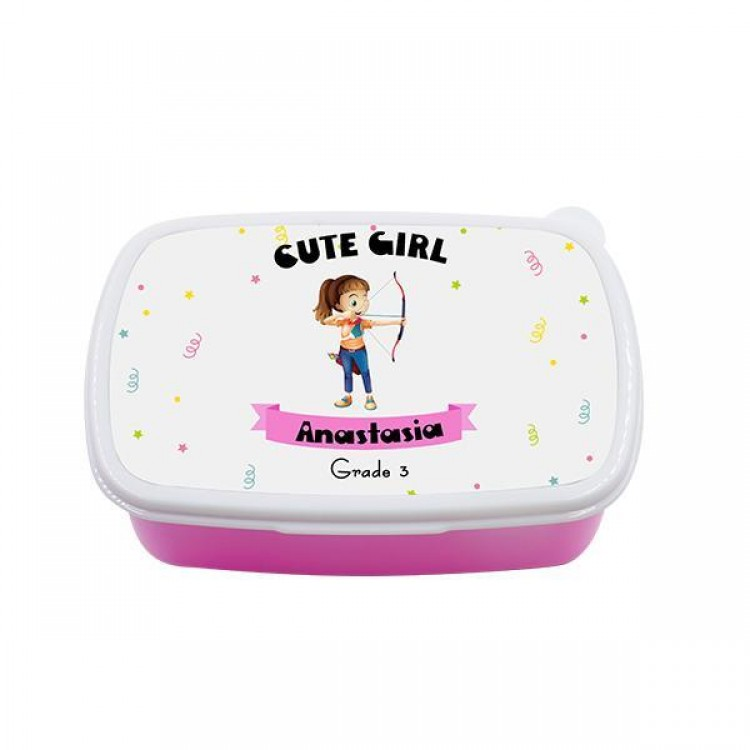 Personalised Lunchbox - Pink