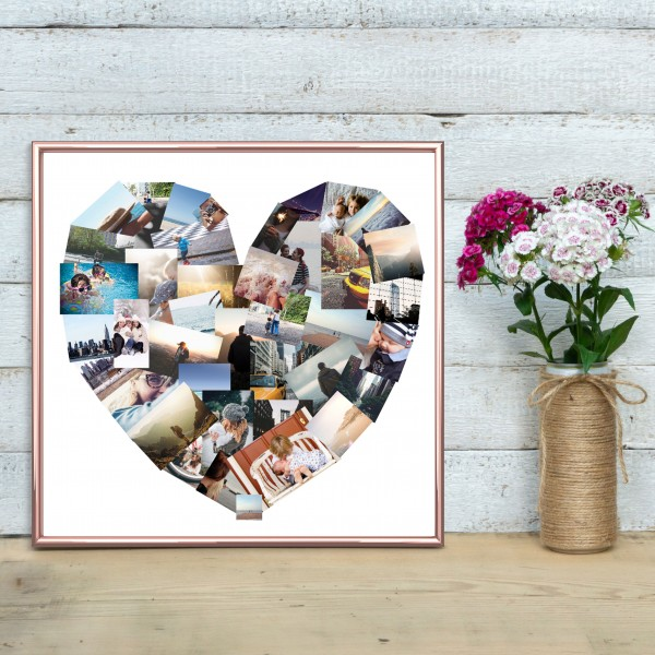 Shaped Photo Collage Poster Prints