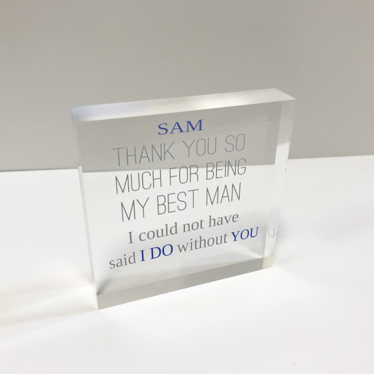 4x4 Glass Token - Thank you Best Man