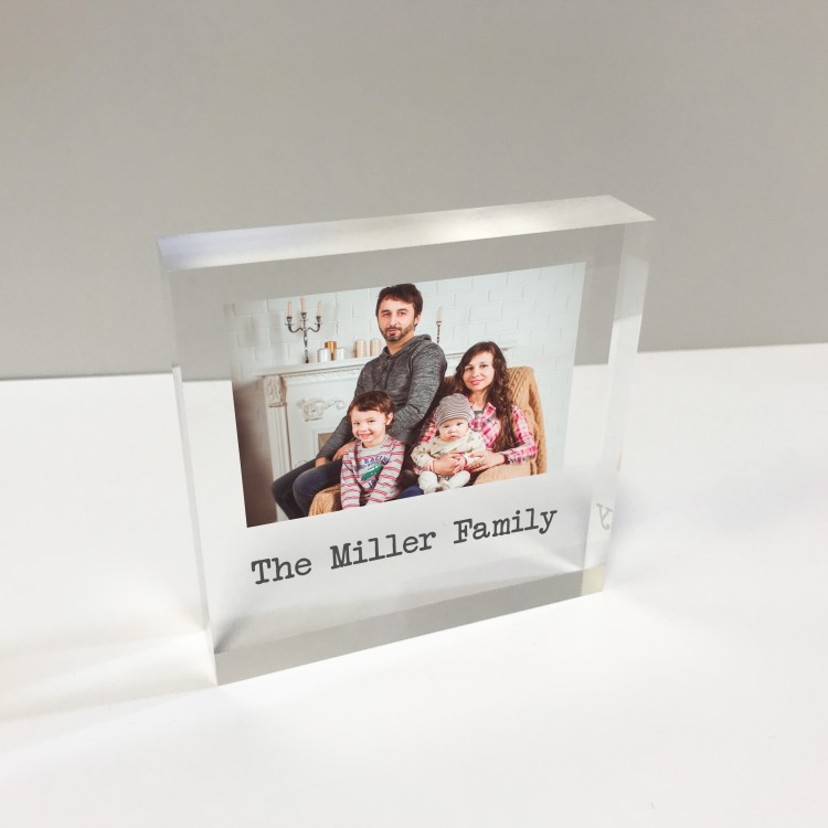 4x4 Glass Token - Photo and Message  75% OFF - NOW £9.99