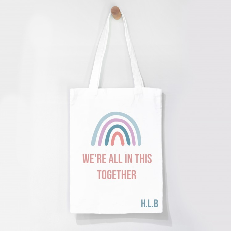 Personalised Tote Bag - We're all in this together