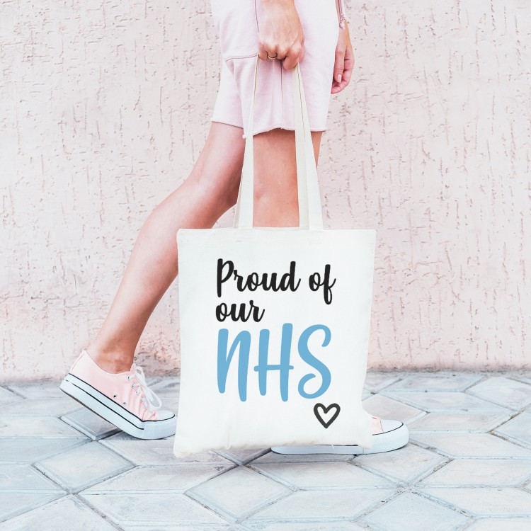 Personalised Tote Bag - Proud of our NHS