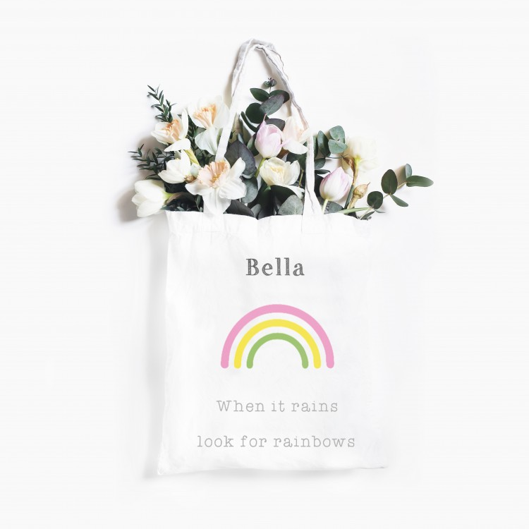 Personalised Tote Bag - Look for Rainbows