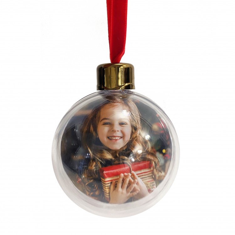 Gold Photo Christmas Bauble