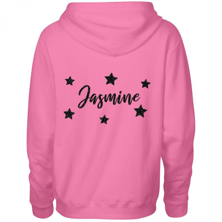 Personalised Premium Heavyweight Zipped Hoodie - Ladies Stars