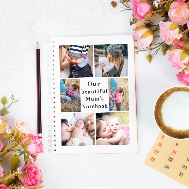 Personalised Photo Notebook - 6 Photos and text A4