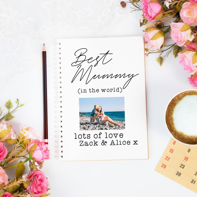 Personalised Photo Notebook - Add Your Own Text A4