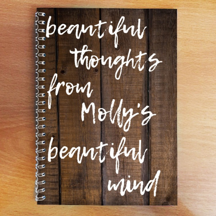 Personalised Photo Notebook - Beautiful Mind A4
