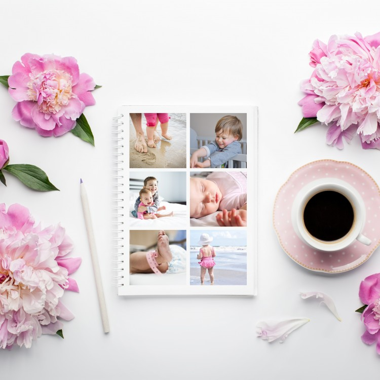 Personalised Photo Notebook - 6 Photos A5