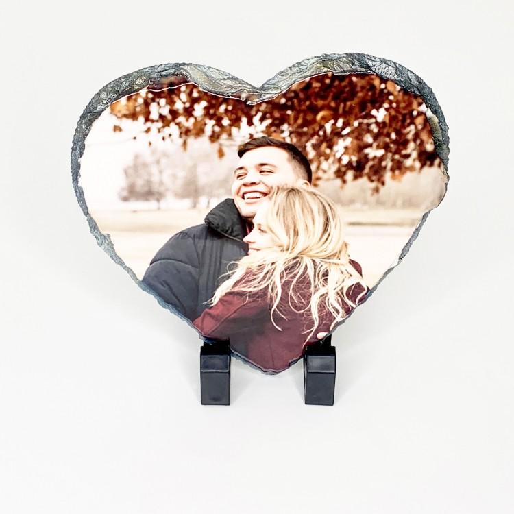 Heart Slate with Photo