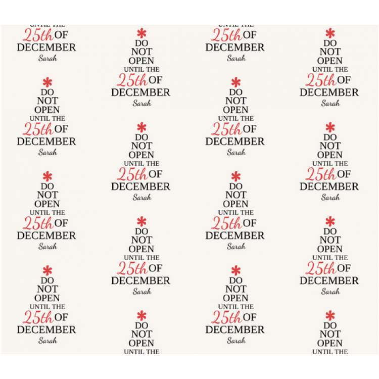 Christmas Personalised Wrapping Paper 1
